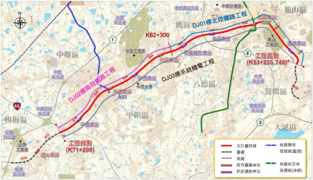 桃地計劃路線圖